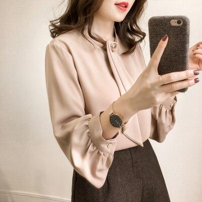 2019 printemps automne 4XL chemise dames Blouse femmes offre spéciale Plus les tailles Blouse chemises Blouse décontractée manches longues bureau haut - 2