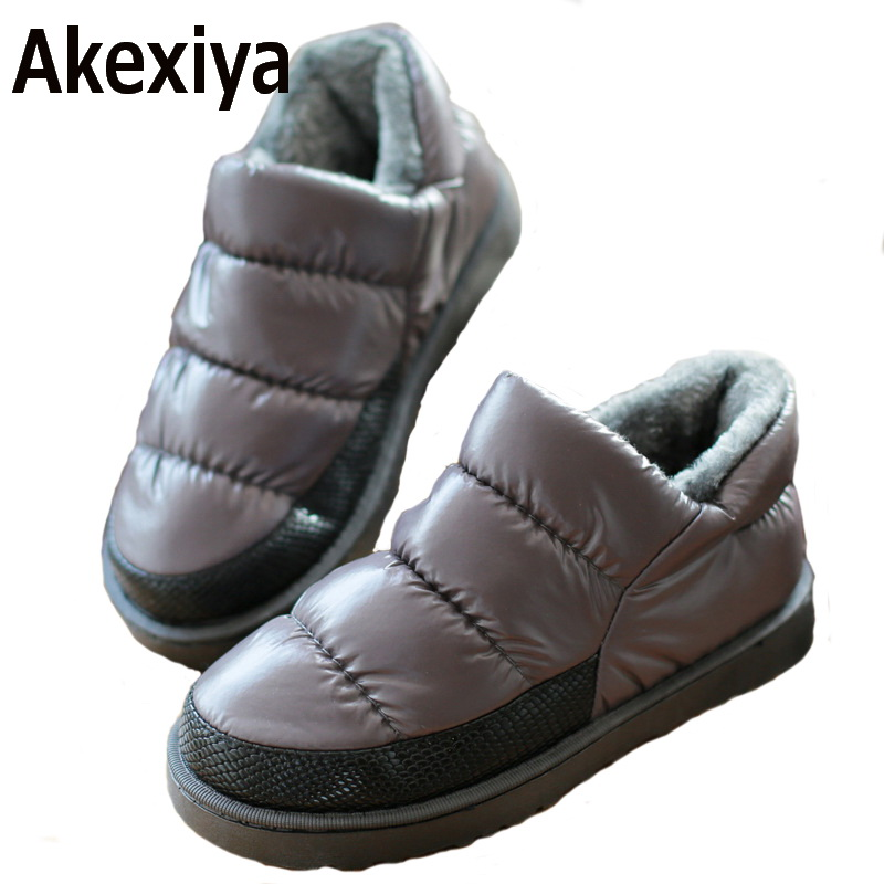 Akexiya Women winter snow boots, warm flat and waterproof boots for winter size 35-43,free shipping