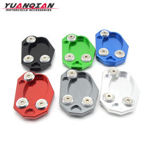 For Kawasaki Z800 Z 800 ER6 2013 2014 2015 Motorcycle Kickstand Foot Side Stand Extension Pad Support Plate