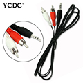 3.5mm Headphones Plug Jack To 2 x RCA Audio Cable 2 RCA Stereo To 3.5mm Jack Plug Adapter Cable 5FT 1.5m