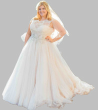 2016 Fashion Plus Size Wedding Dresses Beaded Lace Tulle Elegant Long Bridal Gowns Hot Fashion W898 Vestidos Custom Made