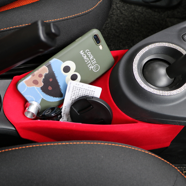 For Smart 453 fortwo forfour Car cover Accessory Armrest Center Storage Box Container Glove Organizer Case mercedes Accessories