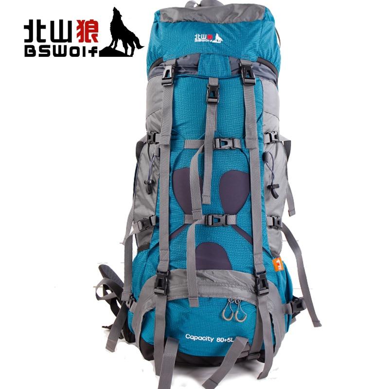 85L Outdoor Climbing Bag Sport Bag Waterproof Travel Backpack Hiking Backpacks Mountaineering Bag Sports Backpack Rain