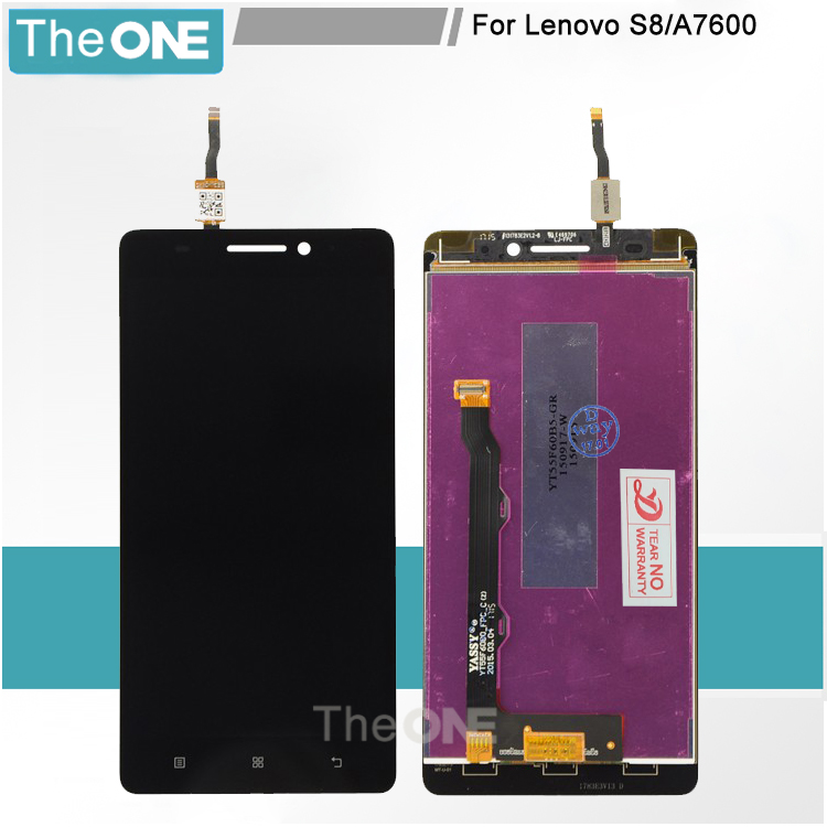 TOP Quality Black/White LCD Display Touch Screen Digitizer Assembly For Lenovo S8 A7600 A7600M A7600-M Phone Parts