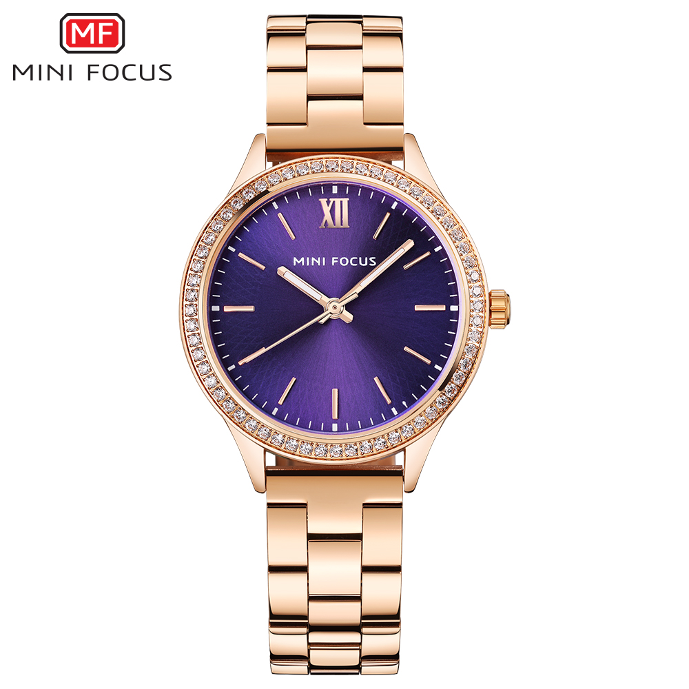MINI FOCUS Fashion Quartz Watch Women Watches Ladies Girls Famous Brand Wrist Watch Female Clock Montre Femme Relogio MF0043L.05 kinyued fashion quartz watch women watches ladies girls famous brand wrist watch female clock montre femme relogio j016s 1
