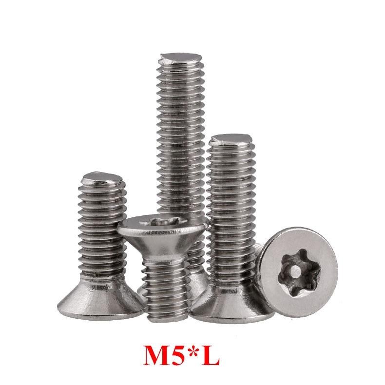 25//50//100pcs M4 Stainless Steel Flat Head Countersunk Sink Hex Socket Screw Bolt