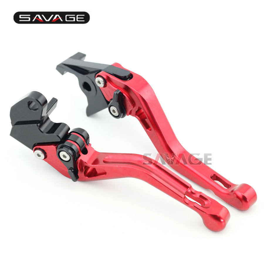 For YAMAHA TDM 900 TDM900 2002-2003 Motorcycle Accessories CNC Aluminum Adjustable Short Brake Clutch Levers Red