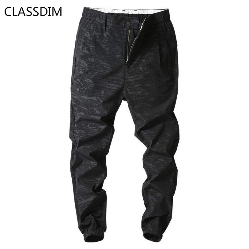 Casual Trousers High-Quality Harem-Pants Elastic-Waist Black Camouflage Size-36 Extensible