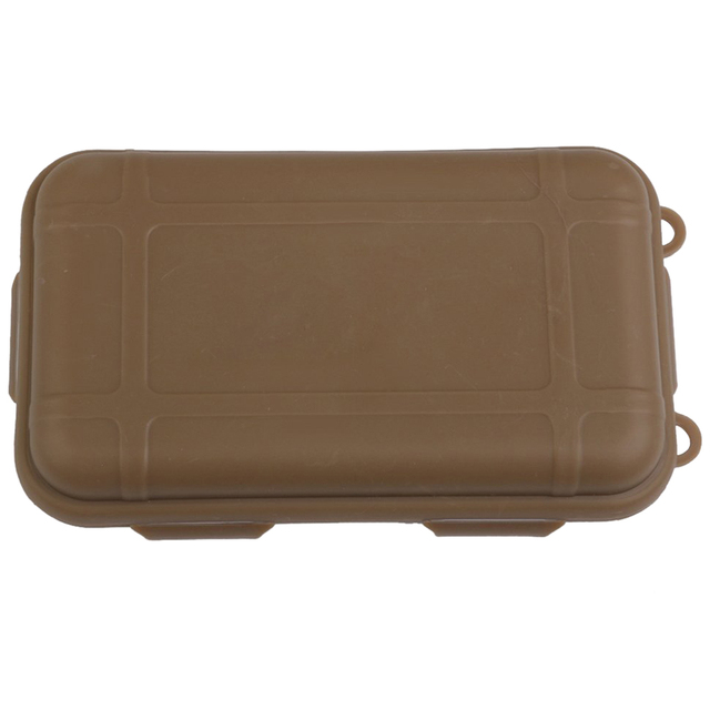 Hermetic Box Shockproof Waterproof Storage Box Outdoor Container Tan