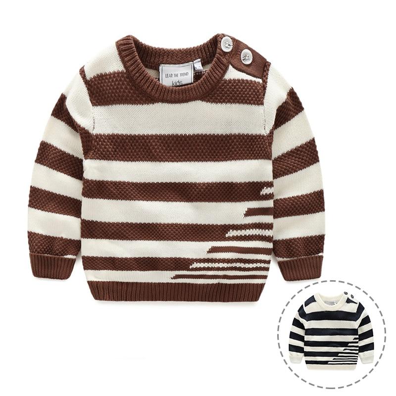 Knit Boys Sweater Striped Мақта Балалар Свитер - Балалар киімі - фото 2