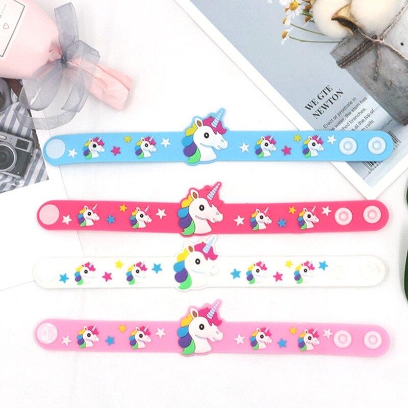 Wristband Bracelet Bangle Unicorn Gift Animal Colorful Cartoon Fashion Lovely Charm Birthday-Party