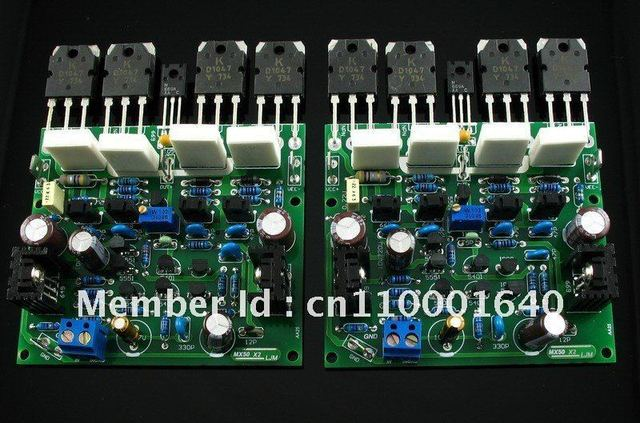 LJM-Audio  Hi-end MX50X2 Audio Stero Power amplifier board base on X-A50 --- (Assembled Amp board,include 2 bobards)