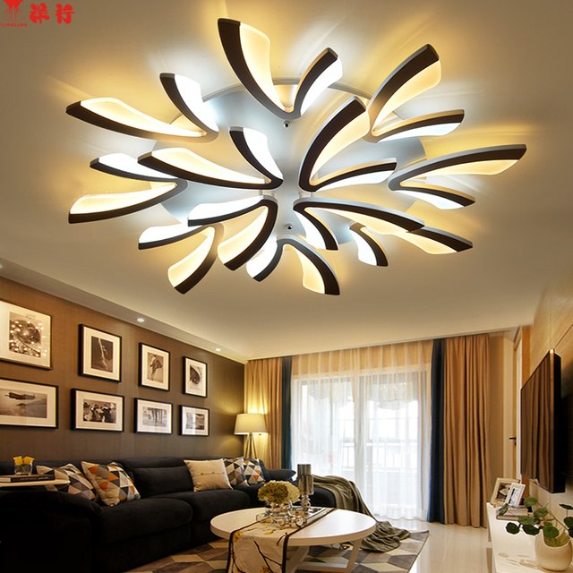 Remote led ceiling lights Modern for bedroom dimmer ceiling lamps acrylic aluminum body light fixture for 8-35square meters