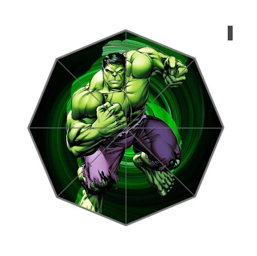 Fashion Design Umbrella Custom Avengers Hulk Folding Umbrella For Man And Women Free Shipping UPC-213