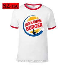 Hip Hop T shirt 2018 Movie Big Kahuna Burger Pulp Fiction T shirt Men loose shirt white Streetwear modal summer Casual Top Tee все цены