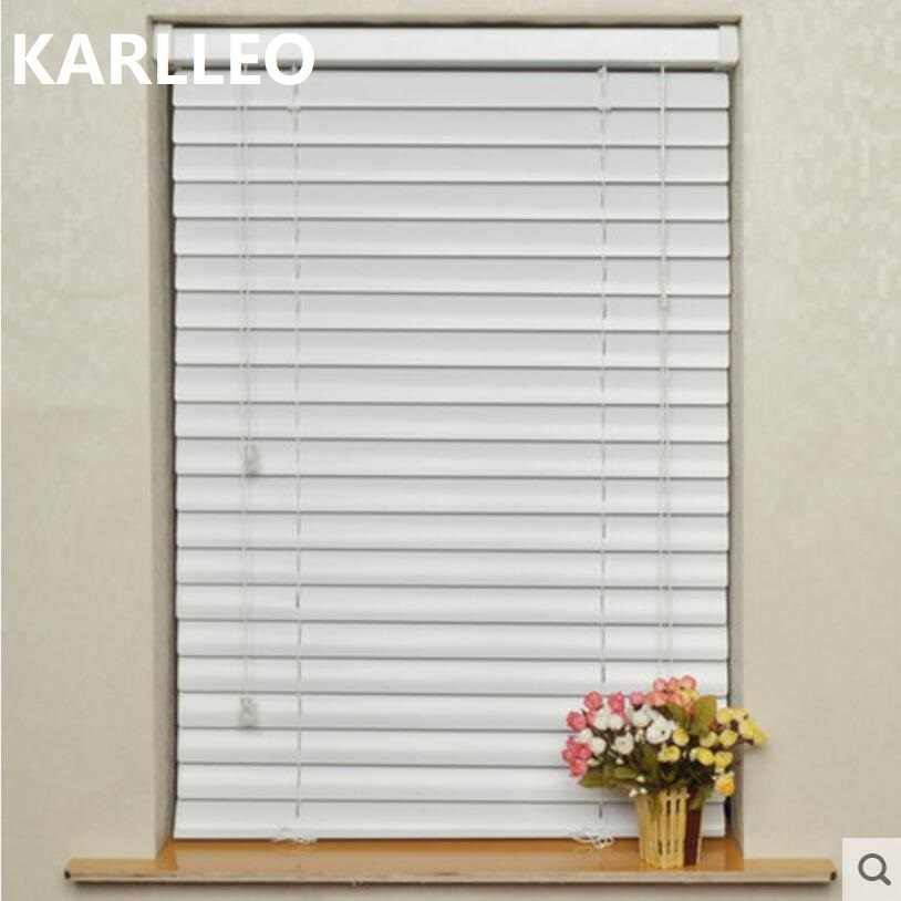 2''  50mm aluminium venetian blinds manual cord mechanism customize size in finished product