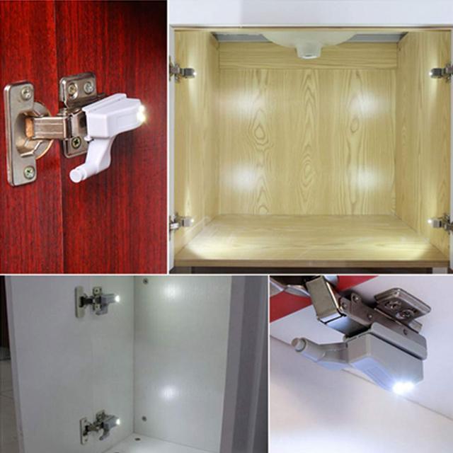 0.25W Universal Hinge Light LED Sensor Under Cabinet Light Cupboard Inner Hinges Lamp Home Kitchen Bedroom Wardrobe Night Light