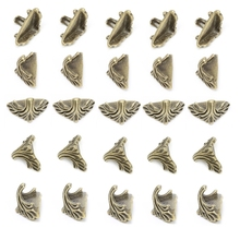NEW 30 Pcs Decorative Jewelry Gift Box Wood Case Feet Leg Corner Protector19mm x11mm H15