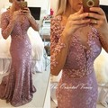 Middle East Robe de Dubai Evening Dress Formal Gowns Saudi Arabia Pearl Pink Lace Mermaid Prom Dresses Special Occasion Dress
