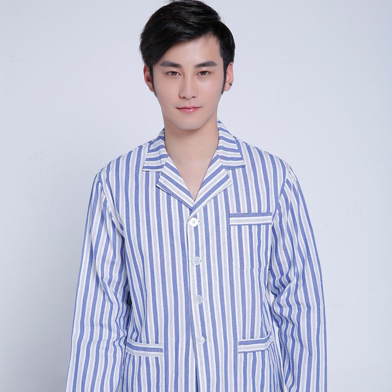 Male Hospital clothing 100% Cotton long sleeved gown dress ...