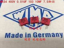 2019 hot sale 10pcs/20pcs German capacitor WIMA MKS4 400V 0.01UF 103 10NF P: 7.5mm Audio free shipping