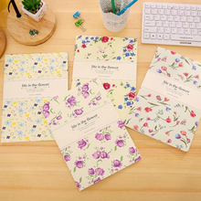5pcs/lot 25.3*18cm Korean Stationery Creative Small Fresh Floral B5 Car Line Book 16K Diary Cartoon Suture Notebook