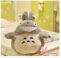 Holiday sale 40cm special cute cartoon creative fat big teeth totoro plush animal doll stuffed toy funny birthday gift 1 pc