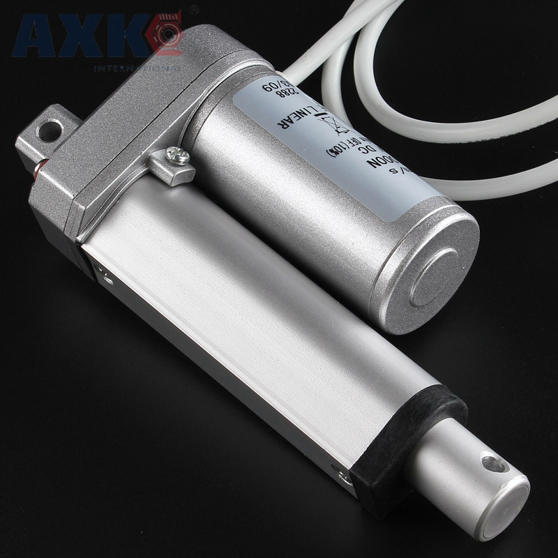 AXK Electric Linear Actuator 12V/24V Motor 200mm Stroke Linear motor Controller 100/200/300/500/600/750/800/900/1100/1300/1500N