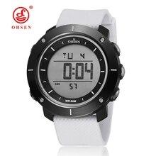 TOP vente 2016 OHSEN numérique mode sport hommes montres d'alarme affichage de la date bracelet en caoutchouc en plein air grande taille mâle plongeur horloges