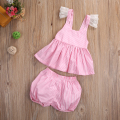 2pcs Toddler Infant Baby Girls Clothes Set Summer T Shirt Vest Tops Pants Bottoms Cute Striped Clothing Baby Girl Outfits Sets