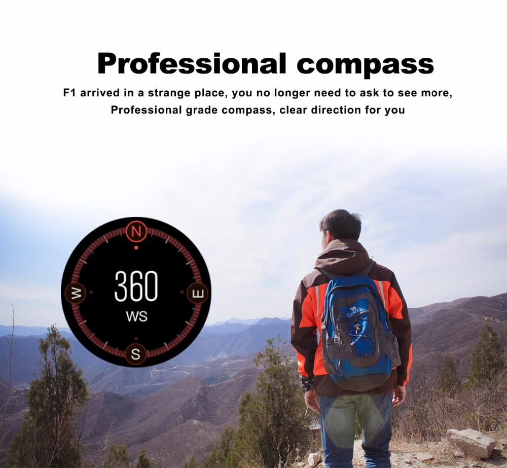 Montre Connectée Caméra Support SIM Smart Watch avec Altimètre et Fréquence Cardiaque