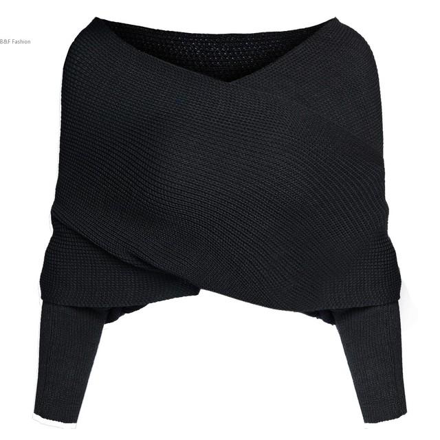 2016 Suéter de Las Mujeres Camisa corta de la Manga Del Batwing de Punto Moda Femenina Cardigan de Manga Larga del Hombro Suéter de Punto 41