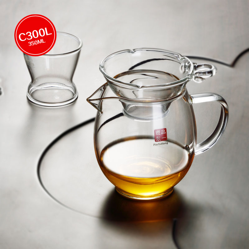 Heat Glass Fair Cup Public Cups Tea Sea Kung Fu Tea Filter Heat-resistant Thicker Glass ChaHai Divided Tea Accessories Judge Cup