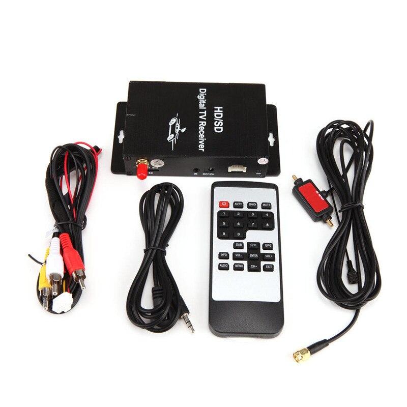 HD DVB-T MPEG4 Ricevitore TV Tuner Box Doppio Antenna Auto Mobile Digital Tv Box per Gli Stati Uniti