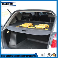 Tonneau cover Car Rear Trunk Security Shield Shade black Beige color cargo cover for JAC S3