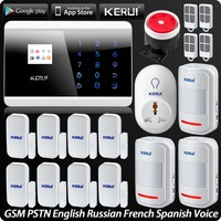 Wireless Wired GSM PSTN Home Alarm System Android IOS APP Control 99 Wireless Zones Security System