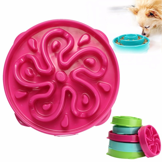 Pet Dog Cat Interactive Slow Food Feeder Bowl Puppy Anti Slip Gulp Feeder Healthy Bloat Dish For Pet Feeding Tools 1Pc 3