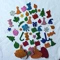 55 PCS (1 saco)/LOT. espuma Glitter etiquetas do natal, As Crianças do brinquedo. Scrapbooking kit. cedo educacional DIY. Xmas. artesanato Do Jardim De Infância.