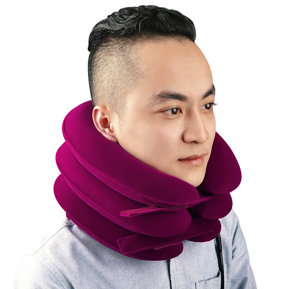 LifeCare Inflatable Cervical 3 Layer Soft Relax Cervical Collar Neck Support Brace Apparatus adult cervical traction apparatus inflatable support fixed tuohu neck with neck stretching his neck