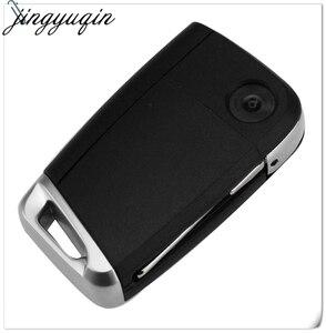 Image 3 - Jingyuqin 10 sztuk 3 przyciski składana klapka obudowa pilota z kluczykiem do samochodu Case Fob dla VW Golf 7 GTI MK7 Skoda Octavia A7 Seat