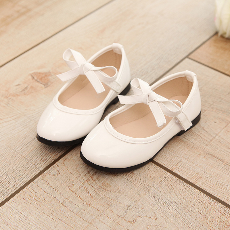 children fashion spring autumn kids casual low heeled bow sewing solid color sneaker princess loafers cute girls leather shoes