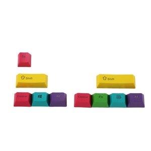 Image 4 - OEM Profil PBT RGBY CMYK Schlagzähmodifikatoren 10 Tasten Laser Gravierte Tastenkappen Mac Tastenkappen Für Cherry MX Mechanische Tastatur
