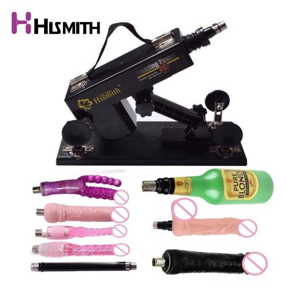Sex Machine automatique Rétractable Gode machine femmes Masturbation Pompage gun Vibrateur Pistolet sexe produits livraison 8 pcs pièces jointes