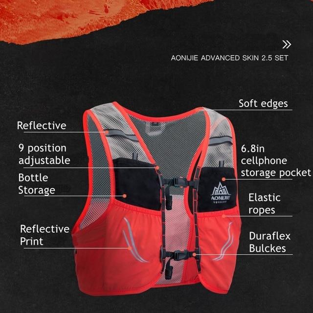 Aonijie Lightweight Running Vest 2.5L Nylon Bag 3