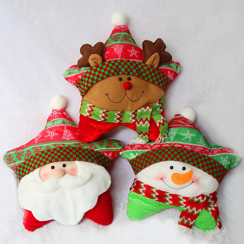 40 25cm New Five Pointed Star Pillow Christmas Santa Claus