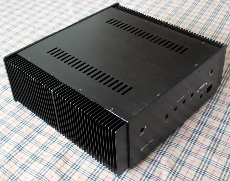 Alumínio completa chassis do amplificador de potência amp Cerco/caso/Caixa 440*410*150mm A30