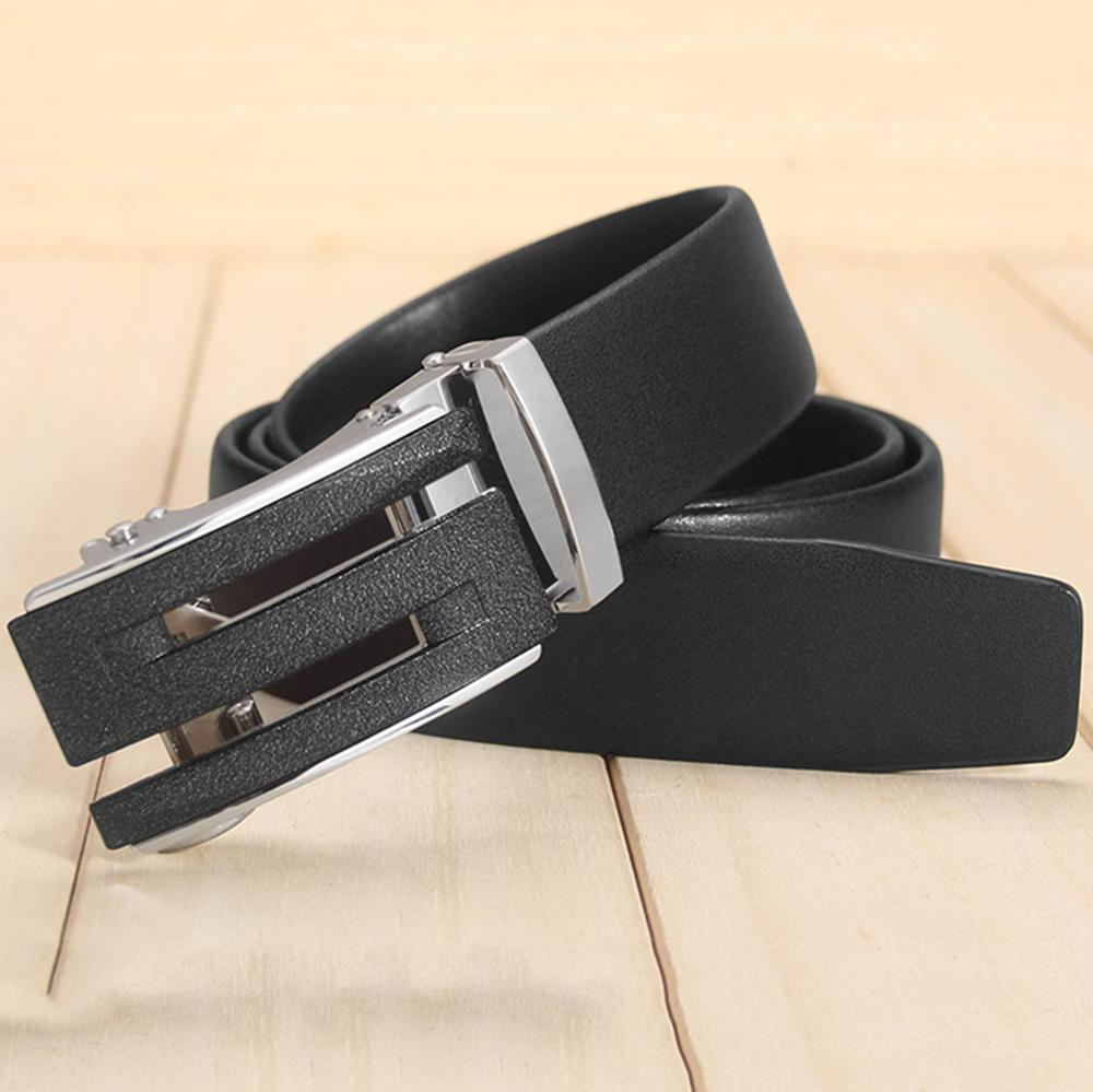 FAJARINA New Arrival Mens S LetterAutomatic Belts Smooth Genuine Surface Casual Cow Genuine Leather Belt Men 3.5cm Wide ZDFJ248