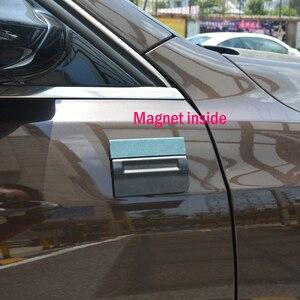Image 2 - FOSHIO 5 stücke Carbon Faser Vinyl Film Auto Wrap Magnetische Rakel Fenster Farbton Kein Kratzer Wildleder Fühlte Magnet Schaber Auto aufkleber Werkzeug