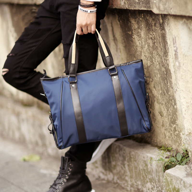 font b Oxford b font Nylon Waterproof Men s Business Laptop Bag for Macbook 13