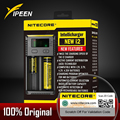 100% original nitecore nueva i2 digicharger lcd circuito inteligente li-ion 18650 14500 26650 10440 aa aaa cargador de batería de coche